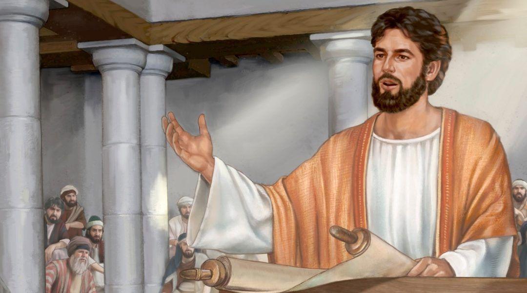 Jezus in de synagoge van Kafarnaüm