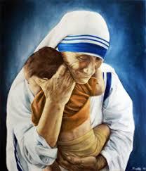 Jesús abraza a un niño