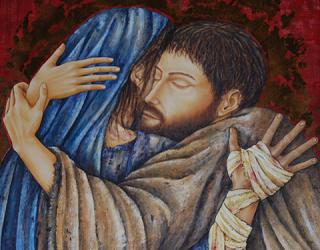 Figuras Franciscanas. San Francisco y el leproso