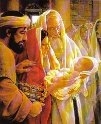 Simeón y Ana reciben a Jesús en el templo
